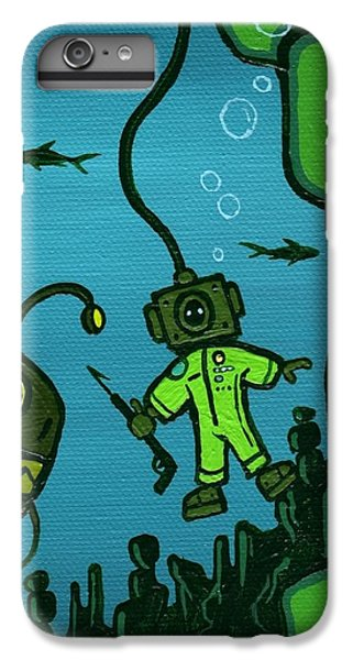 Scuba Diving iPhone 8 Plus Case - Gone Fish'n by Dan Keough