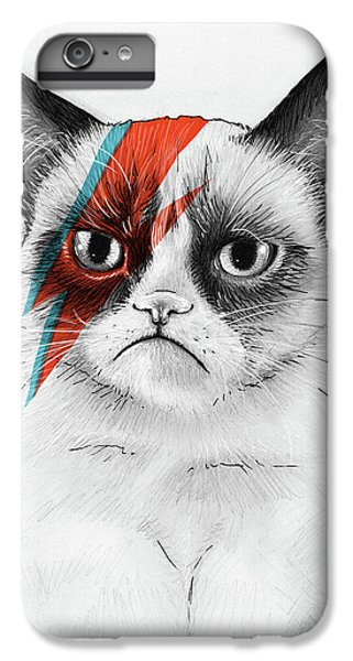 iPhone 8 Plus Case - Grumpy Cat As David Bowie by Olga Shvartsur