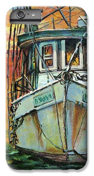 Shrimp Boats iPhone 8 Plus Case - Gulf Coast Shrimper by Dianne Parks