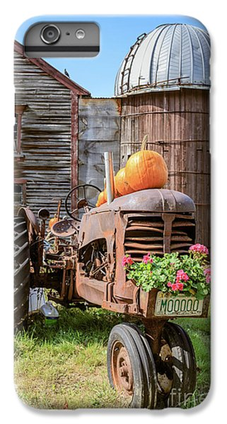 New England Barn iPhone 8 Plus Case - Harvest Time Vintage Farm With Pumpkins by Edward Fielding