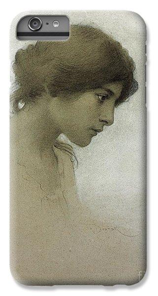 Portraits iPhone 8 Plus Case - Head Of A Girl  by Franz Dvorak
