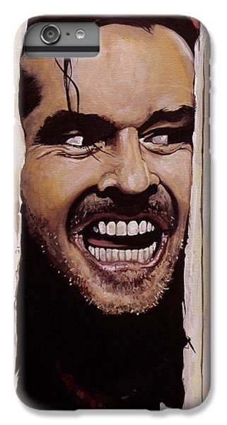 The iPhone 8 Plus Case - Here's Johnny by Tom Carlton