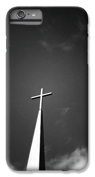 Cross iPhone 8 Plus Case - Higher To Heaven - Black And White Photography By Linda Woods by Linda Woods
