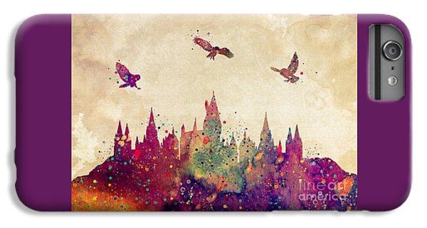 Castle iPhone 8 Plus Case - Hogwarts Castle Watercolor Art Print by Svetla Tancheva