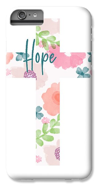 Cross iPhone 8 Plus Case - Hope Floral Cross- Art By Linda Woods by Linda Woods