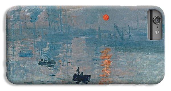 Boat iPhone 8 Plus Case - Impression Sunrise by Claude Monet