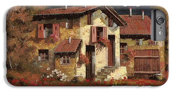 Rural Scenes iPhone 8 Plus Case - In Campagna La Sera by Guido Borelli