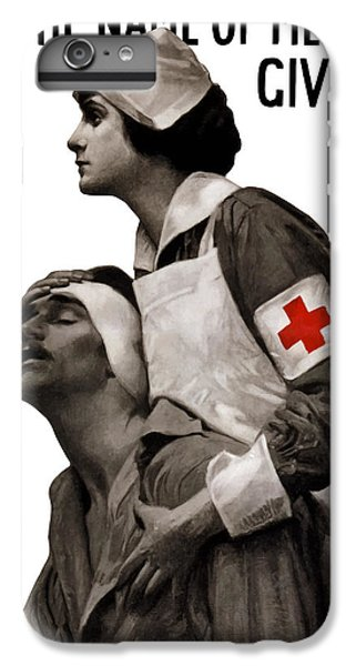 Cross iPhone 8 Plus Case - In The Name Of Mercy Give by War Is Hell Store