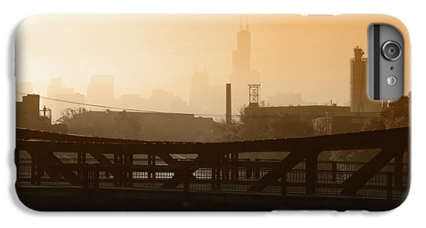 Chicago River iPhone 8 Plus Case - Industrial Foggy Chicago Skyline by Bruno Passigatti