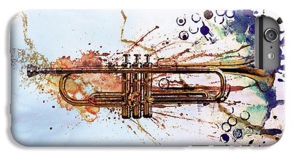 Trumpet iPhone 8 Plus Case - Jazz Trumpet by David Ridley