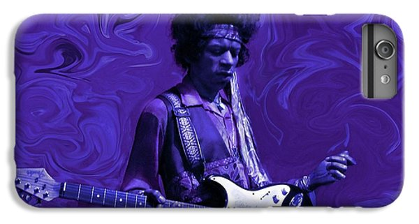 Rock And Roll iPhone 8 Plus Case - Jimi Hendrix Purple Haze by David Dehner