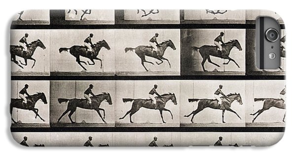 Horse iPhone 8 Plus Case - Jockey On A Galloping Horse by Eadweard Muybridge