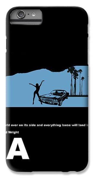 City Scenes iPhone 8 Plus Case - La Night Poster by Naxart Studio