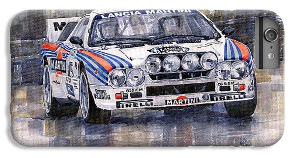 Car iPhone 8 Plus Case - Lancia 037 Martini Rally 1983 by Yuriy Shevchuk