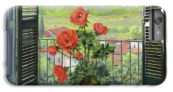 Rose iPhone 8 Plus Case - Le Persiane Sulla Valle by Guido Borelli
