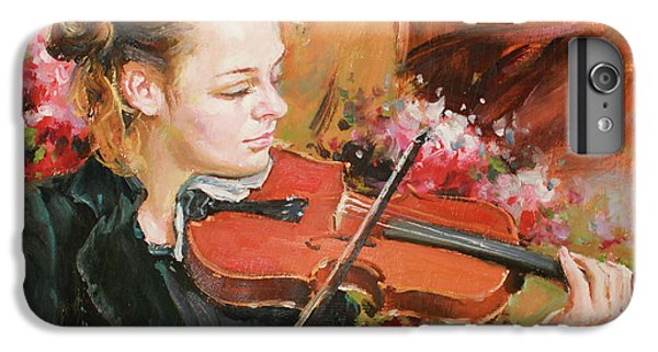 Violin iPhone 8 Plus Case - Learning The Violin by Conor McGuire