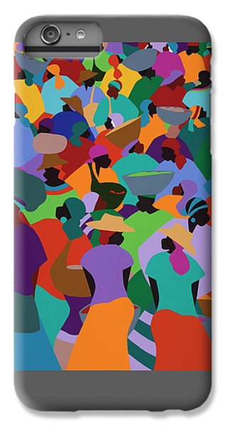 iPhone 8 Plus Case - Les Palmes Market Haiti by Synthia SAINT JAMES