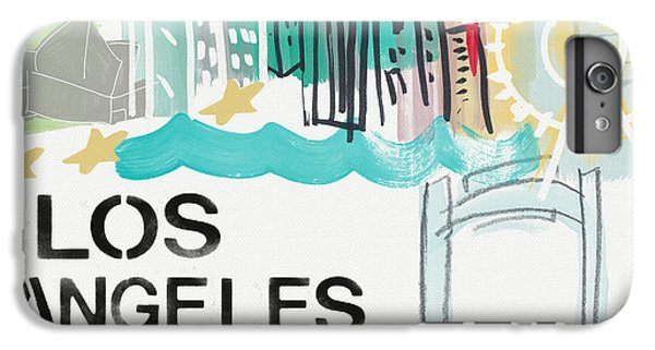 For iPhone 8 Plus Case - Los Angeles Cityscape- Art By Linda Woods by Linda Woods