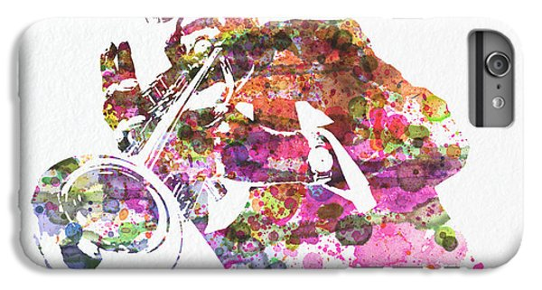 Saxophone iPhone 8 Plus Case - Louis Armstrong 2 by Naxart Studio