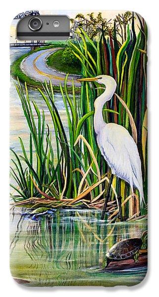 Shrimp Boats iPhone 8 Plus Case - Louisiana Wetlands by Elaine Hodges