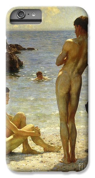 Nudes iPhone 8 Plus Case - Lovers Of The Sun by Henry Scott Tuke