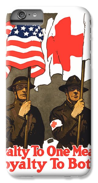 Cross iPhone 8 Plus Case - Loyalty To One Means Loyalty To Both by War Is Hell Store