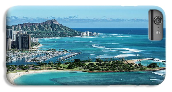 Helicopter iPhone 8 Plus Case - Magic Island To Diamond Head by Sean Davey