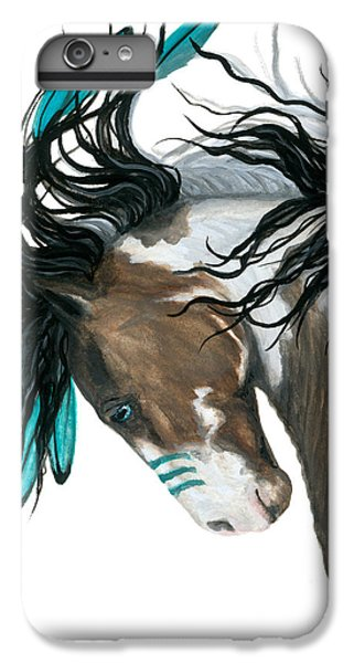 Horse iPhone 8 Plus Case - Majestic Turquoise Horse by AmyLyn Bihrle
