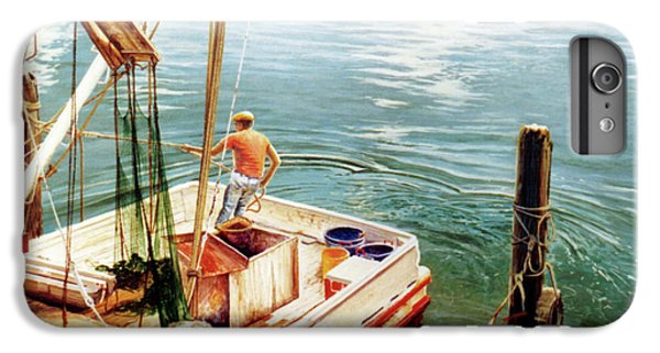 Shrimp Boats iPhone 8 Plus Case - Making Ready by Randy Welborn