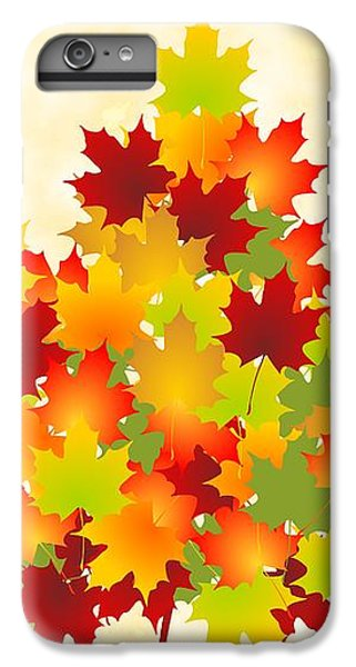 Red iPhone 8 Plus Case - Maple Leaves by Anastasiya Malakhova