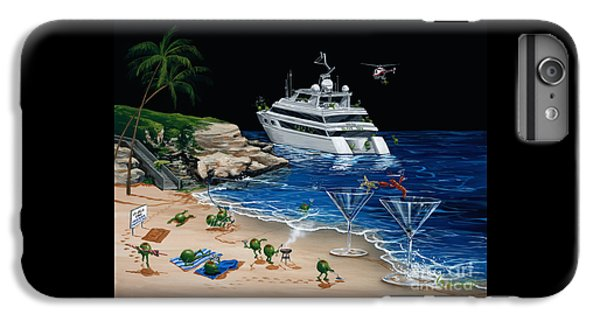 Helicopter iPhone 8 Plus Case - Martini Cove La Jolla by Michael Godard