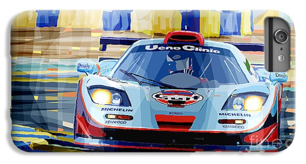 Car iPhone 8 Plus Case - Mclaren Bmw F1 Gtr Gulf Team Davidoff Le Mans 1997 by Yuriy Shevchuk