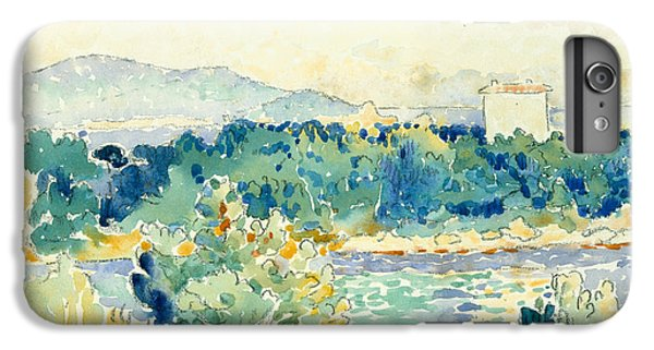 Cross iPhone 8 Plus Case - Mediterranean Landscape With A White House by Henri-Edmond Cross