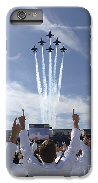 Airplane iPhone 8 Plus Case - Members Of The U.s. Naval Academy Cheer by Stocktrek Images