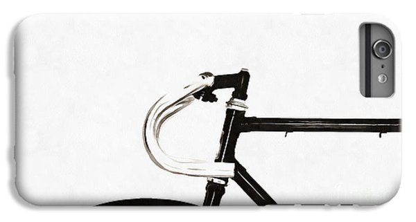 Bicycle iPhone 8 Plus Case - Minimalist Bicycle Painting by Edward Fielding