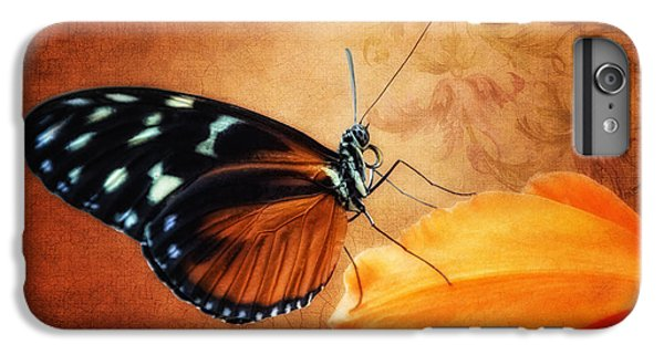 Orchid iPhone 8 Plus Case - Monarch Butterfly On An Orchid Petal by Tom Mc Nemar