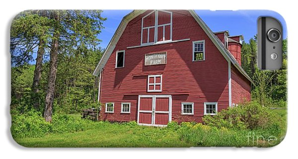 New England Barn iPhone 8 Plus Case - Montford Farm Red Barn Orford New Hampshire by Edward Fielding