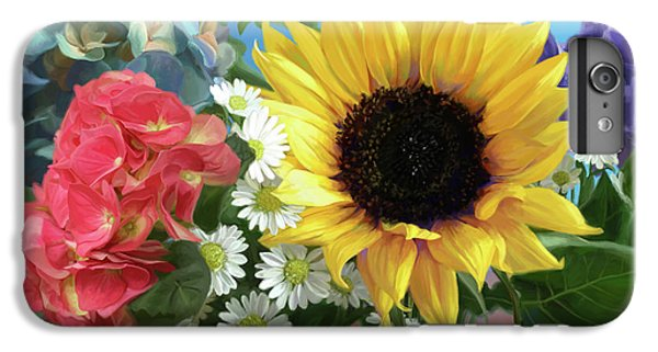 Daisy iPhone 8 Plus Case - Multicolor Flowers by Lucie Bilodeau