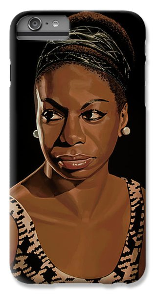 Rhythm And Blues iPhone 8 Plus Case - Nina Simone Painting 2 by Paul Meijering