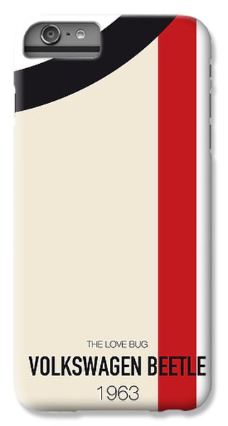 Knight iPhone 8 Plus Case - No014 My Herbie Minimal Movie Car Poster by Chungkong Art
