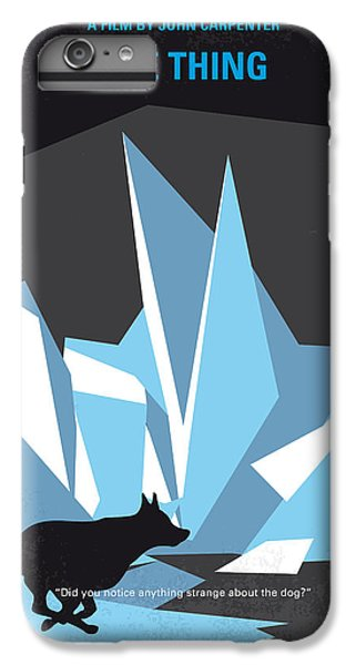 Helicopter iPhone 8 Plus Case - No466 My The Thing Minimal Movie Poster by Chungkong Art