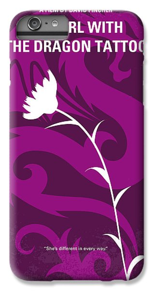 Dragon iPhone 8 Plus Case - No528 My The Girl With The Dragon Tattoo Minimal Movie Poster by Chungkong Art
