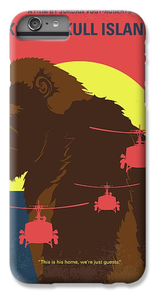 Helicopter iPhone 8 Plus Case - No799 My Skull Island Minimal Movie Poster by Chungkong Art