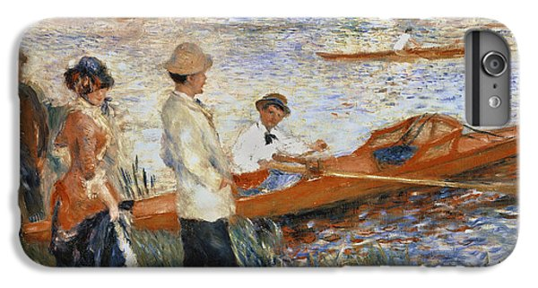 Boat iPhone 8 Plus Case - Oarsmen At Chatou by Pierre Auguste Renoir