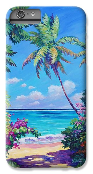 Beach iPhone 8 Plus Case - Ocean View With Breadfruit Tree by John Clark