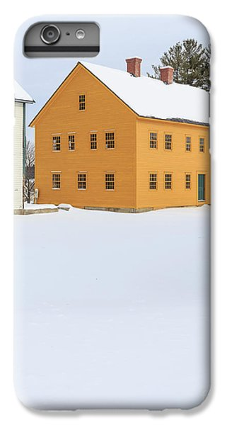 New England Barn iPhone 8 Plus Case - Old Colonial Wood Framed Houses In Winter by Edward Fielding