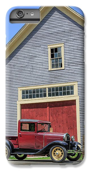 New England Barn iPhone 8 Plus Case - Old Ford Model A Pickup In Front Barn by Edward Fielding