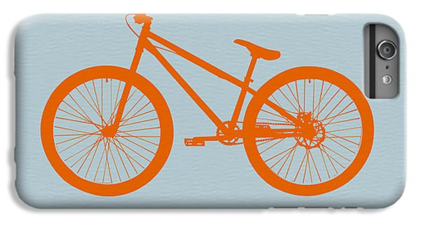 Bicycle iPhone 8 Plus Case - Orange Bicycle  by Naxart Studio