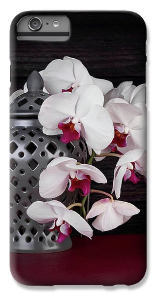 Orchid iPhone 8 Plus Case - Orchids With Gray Ginger Jar by Tom Mc Nemar