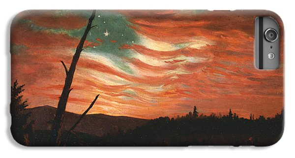 Red iPhone 8 Plus Case - Our Banner In The Sky by Frederic Edwin Church